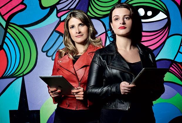 Alessandra (à esq.) e Camila: o tempo longe da rede serviu para refinar o menu digital (Foto: Simon Plestenjak)