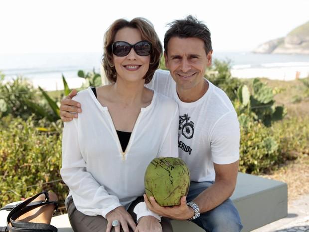 Ana Beatriz Nogueira e Murilo Rosa foram os primeiros a gravar (Foto: Salve Jorge/TV Globo)