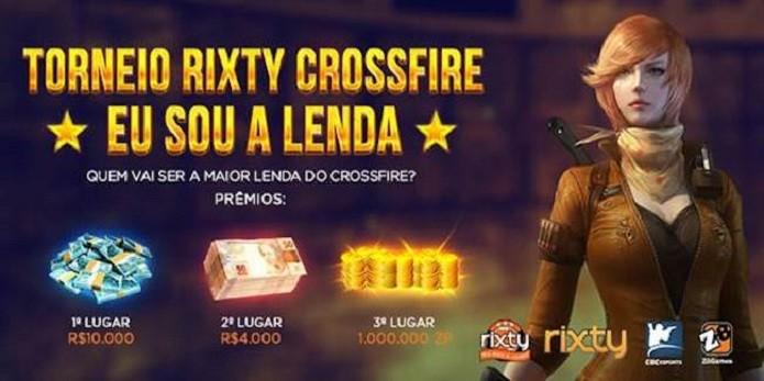 Rixty realizará em novembro o torneio individual de CrossFire Eu Sou a Lenda. (Foto: Divulgação)