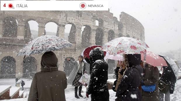 Clima extremo Itália (Foto: Riccardo De Luca/AP)
