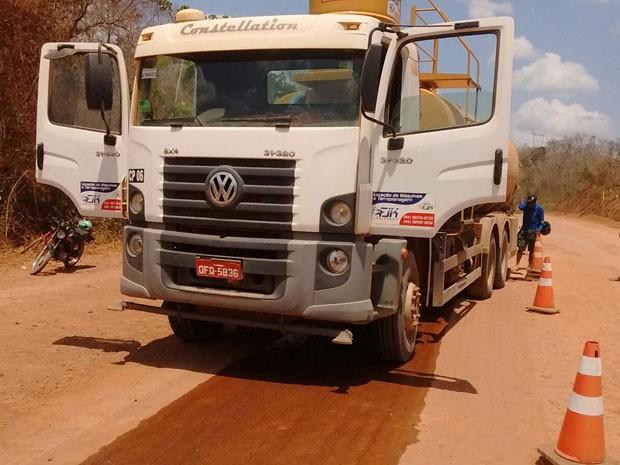 Motorista de caminhão atropelou indígenas na BR-226 (Foto: PRF)