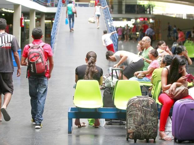 Fluxo de passageiros na Rodoviária de João Pessoa (Foto: Herbert Clemente/Divulgação)