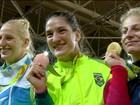 Mayra é bronze e vira a 1ª judoca do país a ir ao pódio olímpico duas vezes