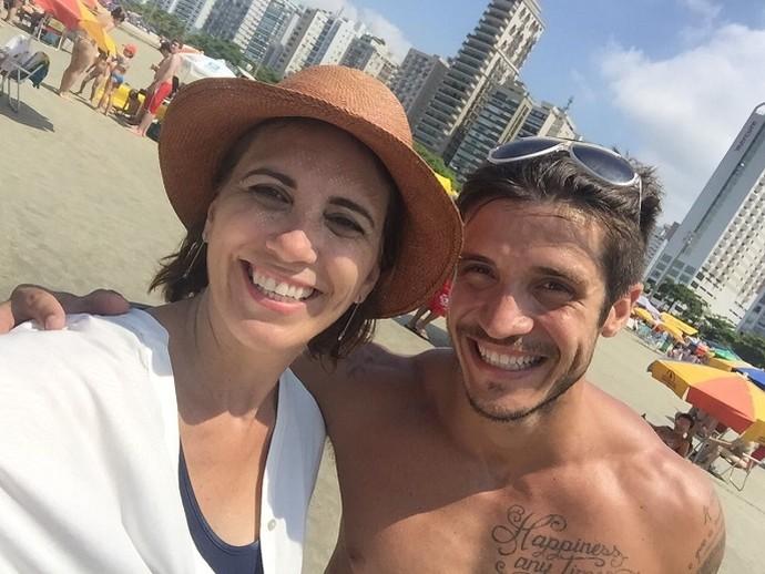 Rosana Valle e o 'Bonitão da Praia' (Foto: Arquivo Pessoal)
