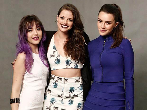 Agatha Moreira posa ao lado de Mariana Molina e Bella Piero (Foto: Inácio Moraes/Gshow)