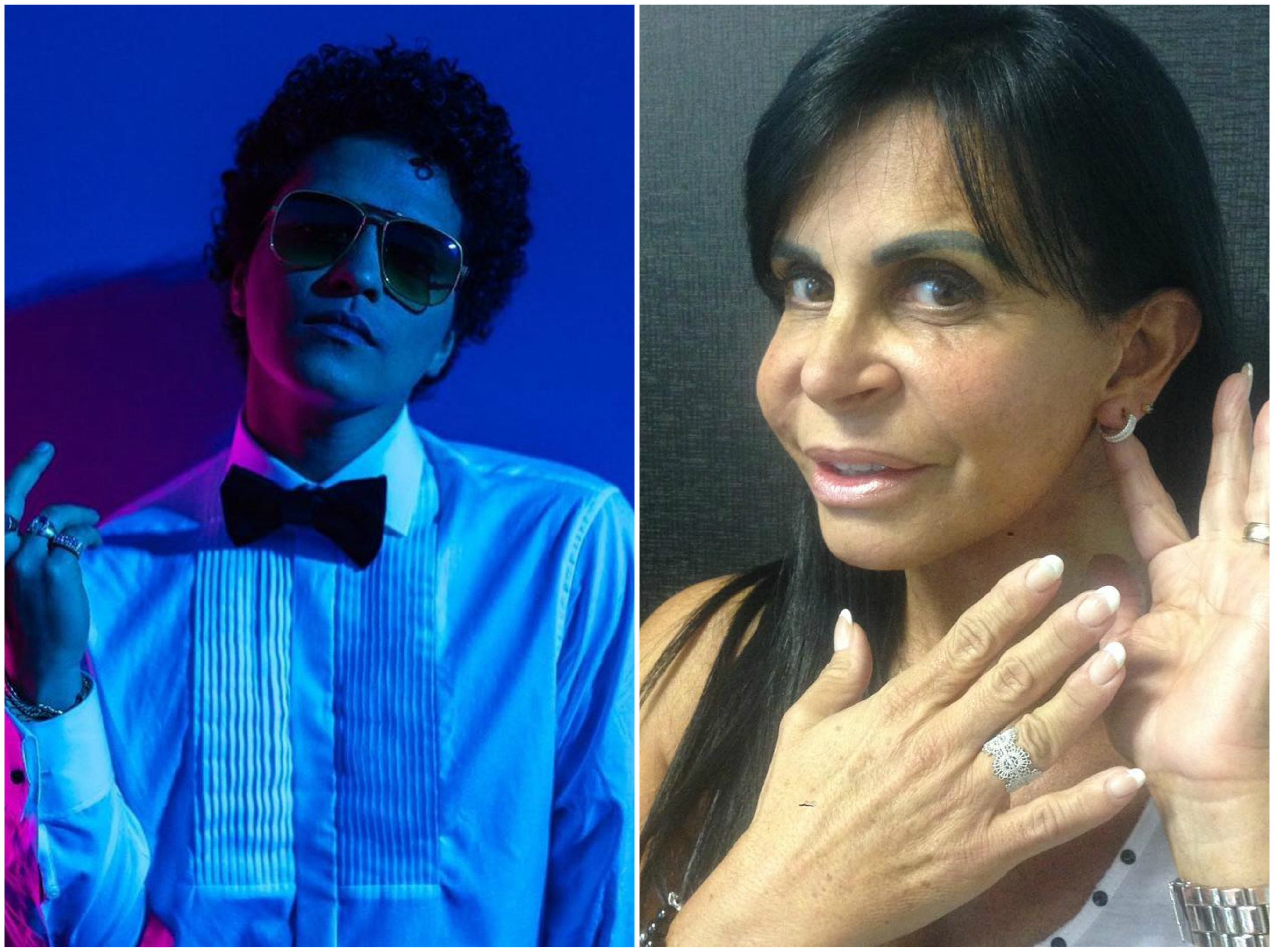 Bruno Mars e Gretchen: estaria nascendo na internet uma nova amizade? (Foto: Reproduo/Instagram)