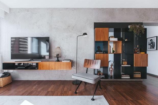 Apartamento r stico tem cores e mobili rio moderno casa for Mobiliario moderno