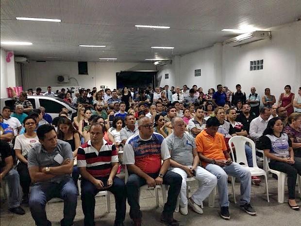 Assembleia realizada na sede do Sindicato dos Bancários do Amazonas (SEE-AM) (Foto: Divulgação/SEE-AM)