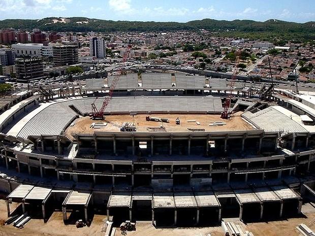 Foto aérea da Arena das Dunas, divulgada pela Fifa (Foto: Arena/Fifa.com)