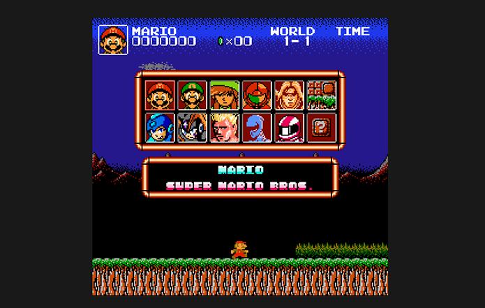 Selecione o personagem em Super Mario Crossover (Foto: Reprodução/Murilo Molina)