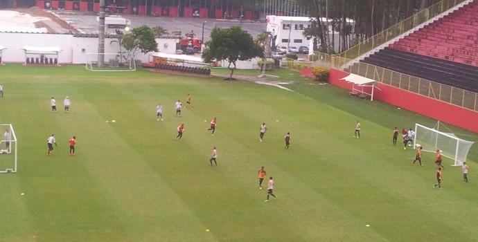 Vitória treina no Barradão (Foto: Ruan Melo)