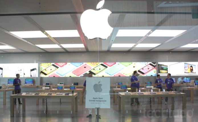 Abertura da Apple Store do Village Mall (Foto: Allan Melo / TechTudo)