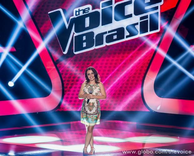"Maysa Ohashi se apresenta com a música ""If I Ain´t Got You"", de Alicia Keys (Foto: Isabella Pinheiro/TV Globo)"
