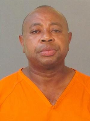 Woodrow Karey, de 53 anos, acusado de matar um pastor durante culto em Louisiana, nos EUA (Foto: Reuters/Calcasieu Parish Sheriff's Office)