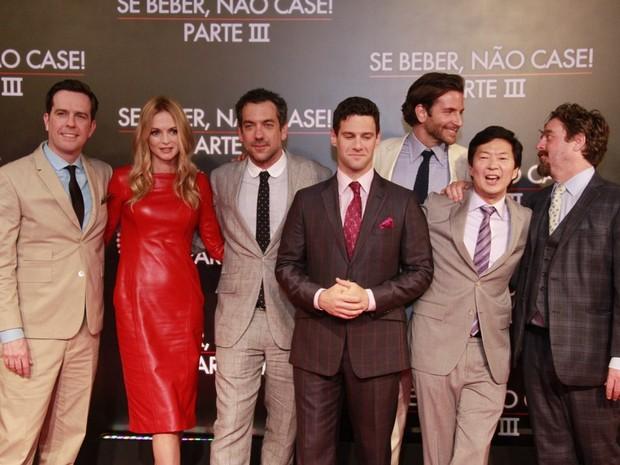 Elenco do filme 'Se beber não case 3' (Foto: Isac Luz/ EGO)