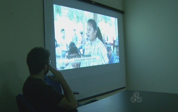Documentário é exibido na Universidade Federal de Roraima (Foto: Bom Dia Amazônia)