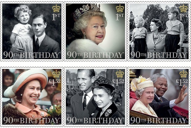 Elizabeth II estampa outros selos em sua homenagem (Foto: The British Monarchy/Reprodução)
