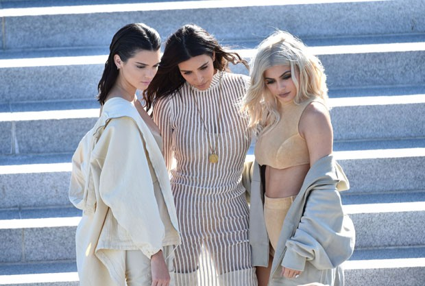 Kendal Jenner, Kim Kardashian e Kylie Jenner (Foto: Gettty Images)