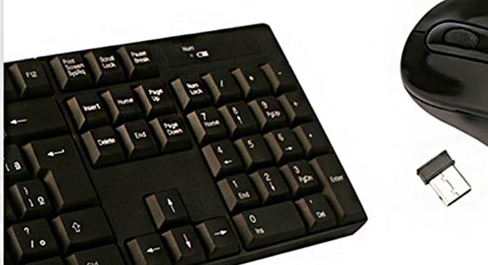 Teclado sem fio usa um dongle no USB para se conectar (Foto: Divulgação/Leadership)