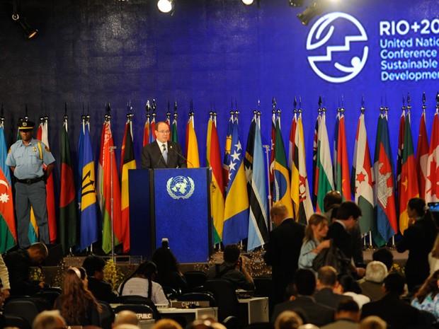 Chefes de Estado e de Governo participam da terceira reunião plenária na Rio+20 (Foto: Fabio Rodrigues Pozzebom/ABr)