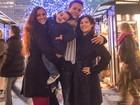 Nana Gouvêa curte o Natal de Nova York com os enteados