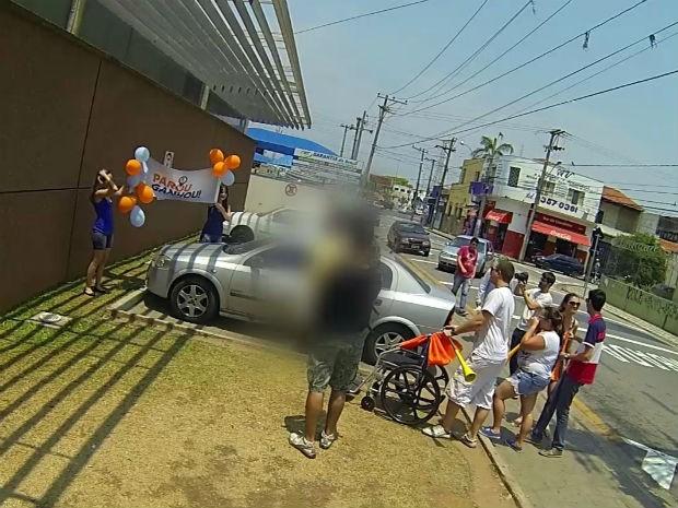 Estudantes armam ação para flagrar uso indevido de vagas em Sorocaba (Foto: Divulgação)