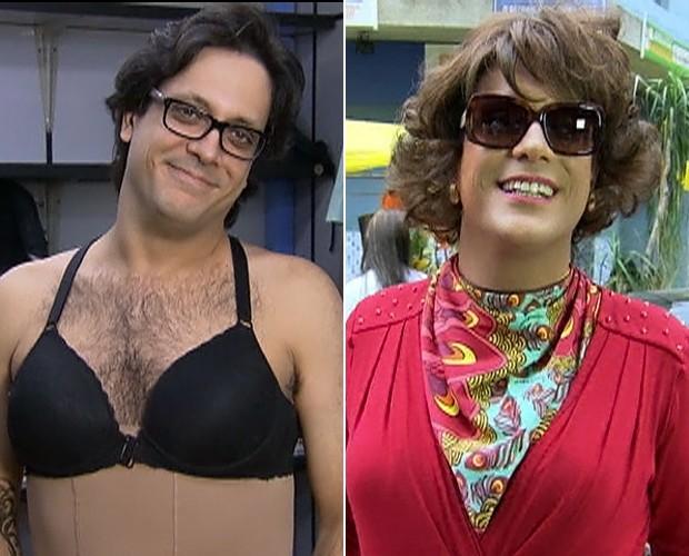 Lucio Mauro Filho tem transformação para viver mulher em A Grande Família (Foto: Vídeo Show/ TV Globo)
