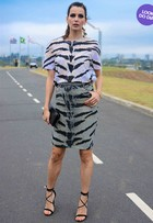 Look do dia: Fernanda Motta aposta em animal print durante a SPFW