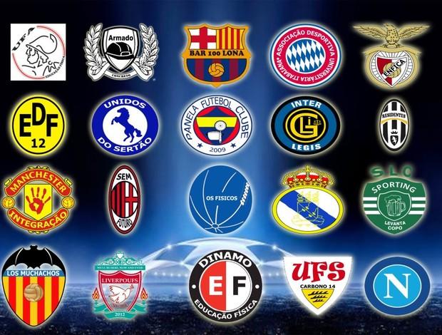 Clubes participantes da UFS Champions League (Foto: Arte/Divulgação)