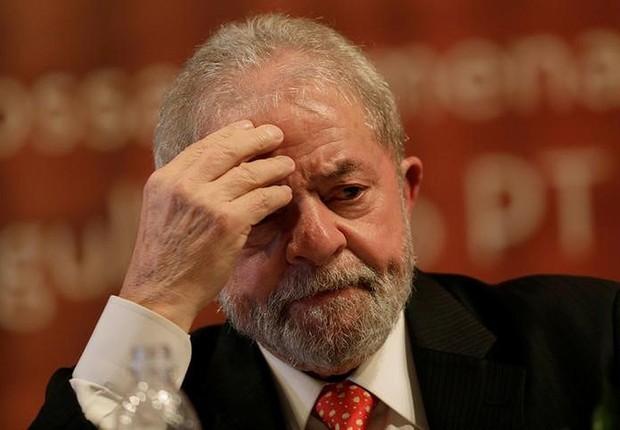 Ex-presidente Luiz Inácio Lula da Silva durante cerimônia em Brasília (Foto: Ueslei Marcelino/Reuters)