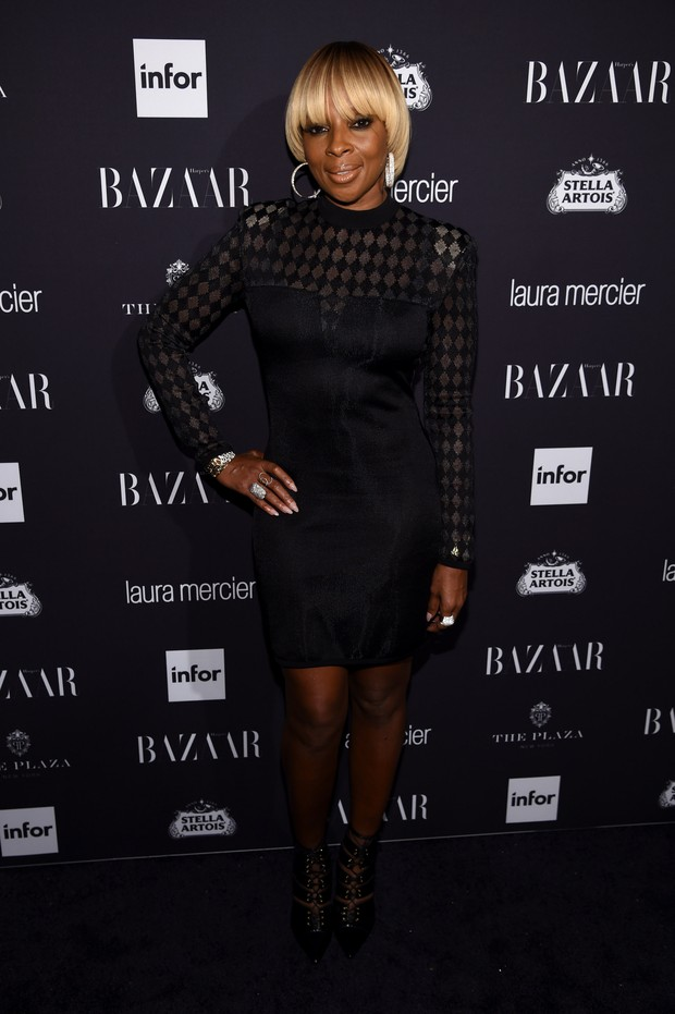 Mary J. Blige em festa em Nova York, nos Estados Unidos (Foto: Dimitrios Kambouris/ Getty Images/ AFP)