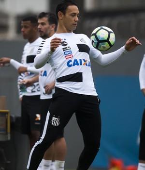 Ricardo Oliveira treina para poder voltar ao time do Santos (Foto: Ivan Storti/Santos FC)