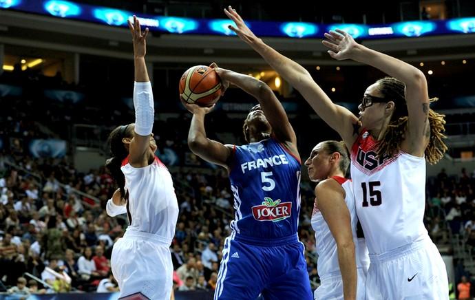 EUA x França - Basquete feminino (Foto: Divulgação / FIBA)