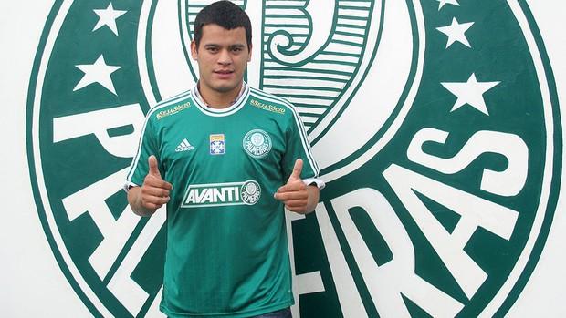 Mendieta apresentado Palmeiras (Foto: Gustavo Serbonchini)