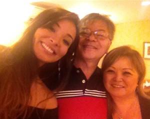 Nakamura com o pai San e uma tia (Foto: Arquivo Pessoal)
