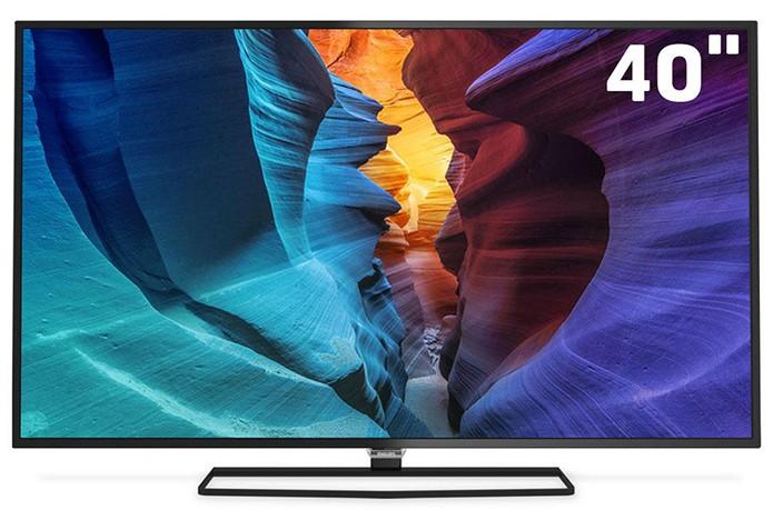 871c6fe64 Smart TV Philips de 40 polegadas com resolução Ultra HD 4K (Foto  Divulgação