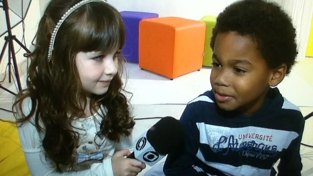 A repórter mirim da RBS TV faz pautas especiais sobre infância (Foto: Reprodução/RBSTV)