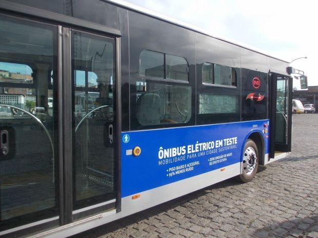 Ônibus elétrico chega a Salvador para fase de testes (Foto: Divulgação Prefeitura de Salvador)