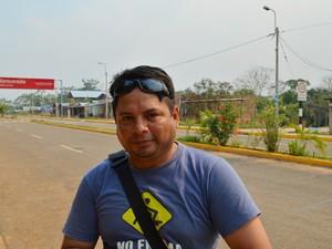 Andy Racea diz que preocupação com ebola é 'grande' (Foto: Yuri Marcel/G1)