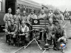 Combatentes da região de Campinas em 1932 (Foto: Reprodução/EPTV)