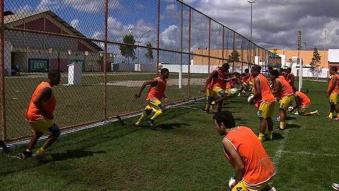 Treino Socorrense  (Foto: Reprodução/TV Sergipe)