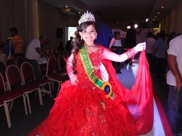 Mini Miss Brasil saiu da UTI (Foto: Arquivo pessoal)