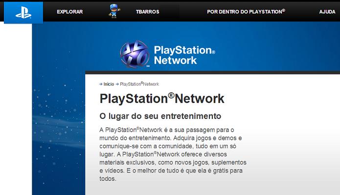 PSN voltou ao normal (Foto: Reprodução Thiago Barros)