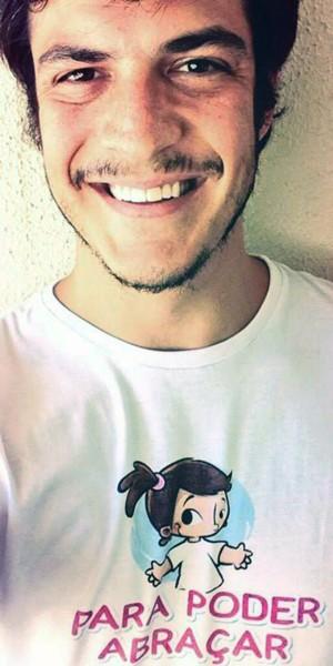 Mateus Solano veste camiseta da campanha (Foto: Arquivo pessoal)