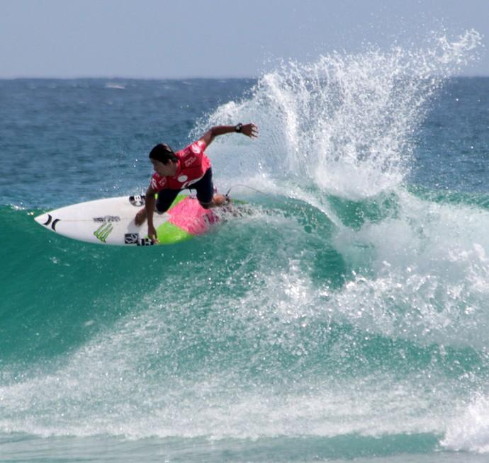 Miguel Pupo enfrenta Wiggolly Dantas nas quartas de final em Gold Coast (Foto: Luciana Lacerda)