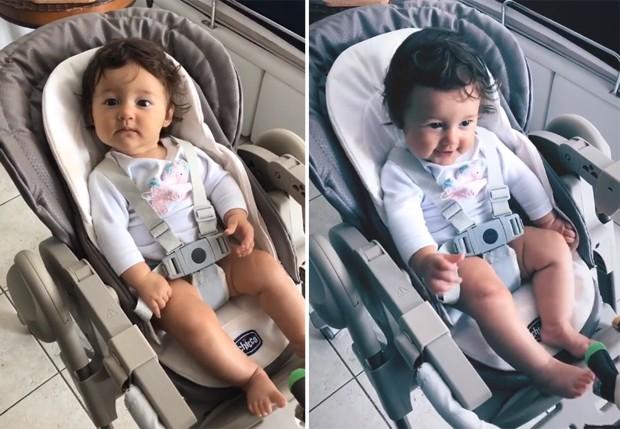 Madalena, filho de Bruno Gissoni e Yanna Lavigne (Foto: Reprodução/Instagram)