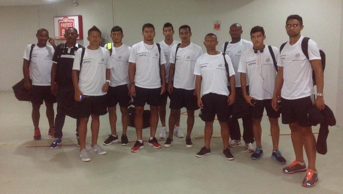 Série D, Santos-AP embarca para jogo decisivo contra o Londrina-PR (Foto: Jonhwene Silva-GE/AP)