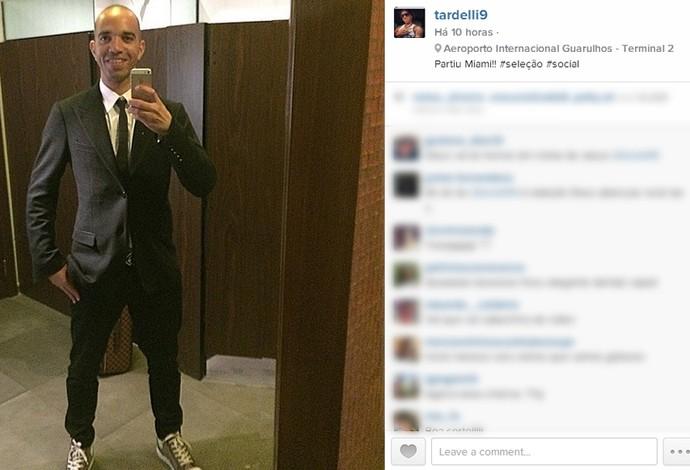 Atacante Diego Tardelli posta foto antes de se apresentar à Seleção (Foto: Reprodução / Instagram)