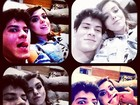 Giovanna Lancellotti faz caras e bocas com o namorado Arthur Aguiar