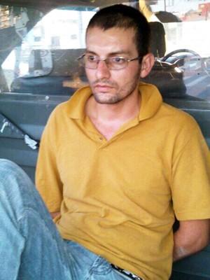 Tiago Rufato de Camargo foi preso suspeito de estuprar policial feminina em Itanhaém, SP (Foto: Divulgação/Polícia Militar)